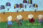 长大我也当伞兵儿童画