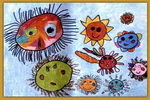 太阳九兄弟儿童画