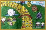 水果乐园儿童画