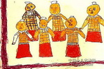 兵马俑儿童画作品欣赏
