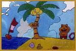 渡河喽儿童画