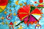 我设计的飞行器儿童画