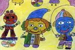 小丑杂技团儿童画