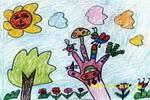 儿童画/看这颗小树多漂亮儿童