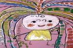漂亮的小妹妹儿童画作品欣赏