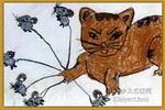 能干的猫油画棒儿童画