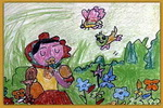 小红帽儿童画3幅