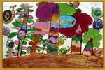 蜗牛乐园儿童画