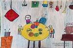 吃年夜饭儿童画作品欣赏