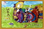 鸡妈妈的家儿童画