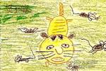 勇敢的小花猫儿童画作品欣赏