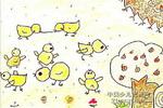 小鸡儿童画5幅