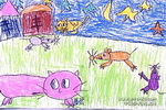 粮仓卫士儿童画作品欣赏