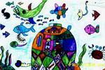 儿童画 童画/漂亮的海底世界儿童画
