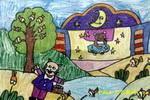 小猫的梦想儿童画2幅
