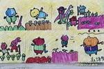 地鼠种萝卜儿童画作品欣赏