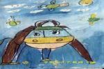 初生牛犊不怕虎儿童画