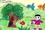 我为小鸟来安家儿童画作品欣赏