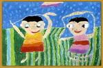 洗澡儿童画(七)7幅