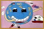 建设一个美丽的地球儿童画