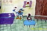 唐老鸭厨师儿童画