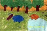 大象真能干儿童画