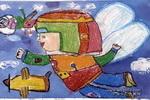我发明的飞行服儿童画作品欣赏