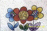花儿朵朵向太阳儿童画