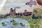 鸡和鸭儿童画