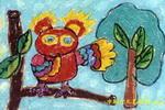 站岗油画棒儿童画