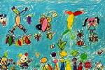 儿童画/花蝴蝶和我们儿童画作