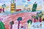 美丽的田野油画棒儿童画