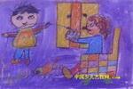 帮妈妈缠毛线油画棒儿童画