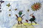 未来太空人儿童画