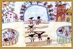 我们的幼儿园开满鲜花儿童画