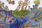 哺食儿童画作品欣赏