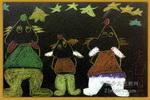 看星星儿童画3幅