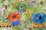 小象学本领儿童画