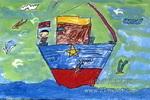 远航归来儿童画