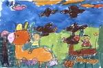 放牧归来儿童画