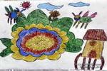 儿童画 蜜蜂/蜜蜂采蜜儿童画3幅