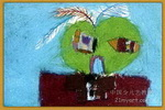 羽毛的联想儿童画