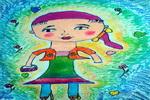 赶时髦的妈妈儿童画作品欣赏