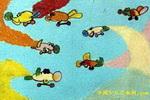 空中表演儿童画
