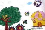 邻居儿童画2幅