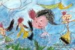 快乐的公主儿童画作品欣赏
