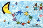 星星娃娃儿童画作品欣赏