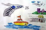 海陆空儿童画