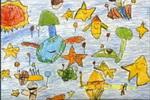 我的太空旅行儿童画