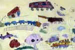 我的玩具城儿童画